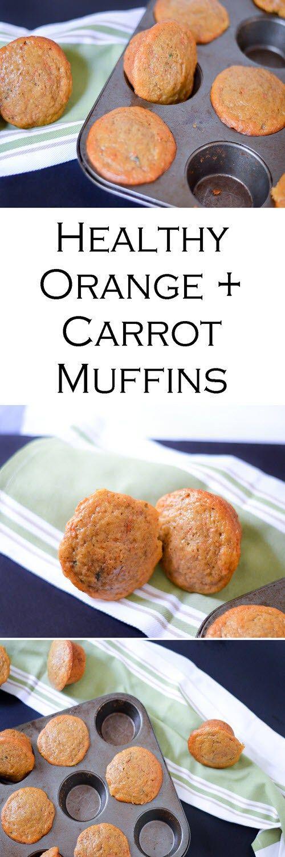 Low Fat Fresh Orange + Carrot Muffins - Healthy Recipe w. Nonfat Greek Yogurt + Less Sugar #LMrecipes #muffins #healthy #greekyogurt #mealprep #makeahead #healthy #foodblog #foodblogger