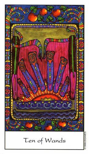 Image result for rosetta tarot 10 of wands