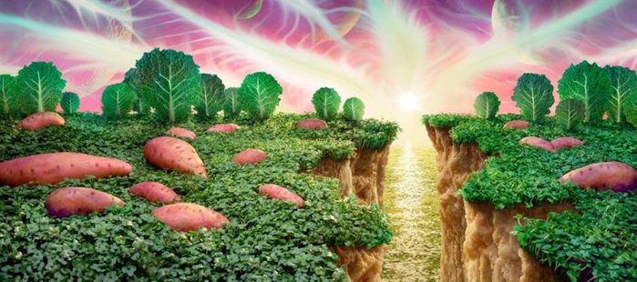 Брокколи и цветная капуста, перцы и морковка, шоколадки и сладкие рогалики в талантливых руках и объективе австралийского фотохудожника Карла Уорнера превращаются в скалы, деревья, здания, поезда и иные предметы привычного нам окружающего мира. #вишневыйогурец  #съедобнаяфлористика  #заказпотел89136396432  #фруктовыебукеты  #овощныебукеты  #букетыназаказвомске  #даритесаппетитом  #букеты  #фруктовоовощнаяфлористика