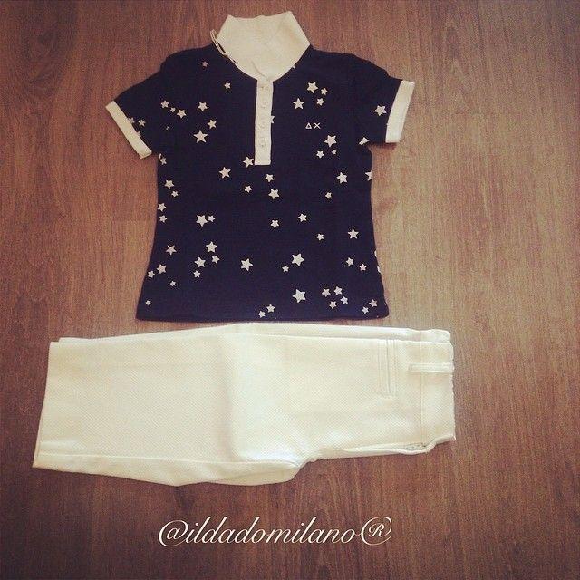 Polo stelle + pantalone pinocchietto SUN68