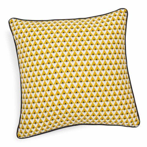 Coussin en coton jaune HILTON | Maisons du Monde