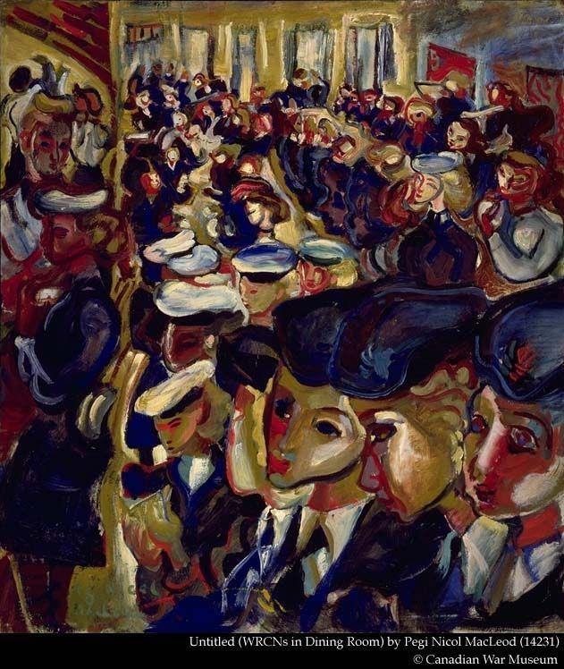 Untitled (WRCNs in Dinning Room), Pegi Nicol MacLeod. Canadian (1904 - 1949)