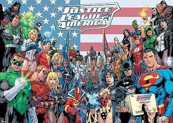 Dc Comics Jla Classic Group Giant Poster (03-0454)