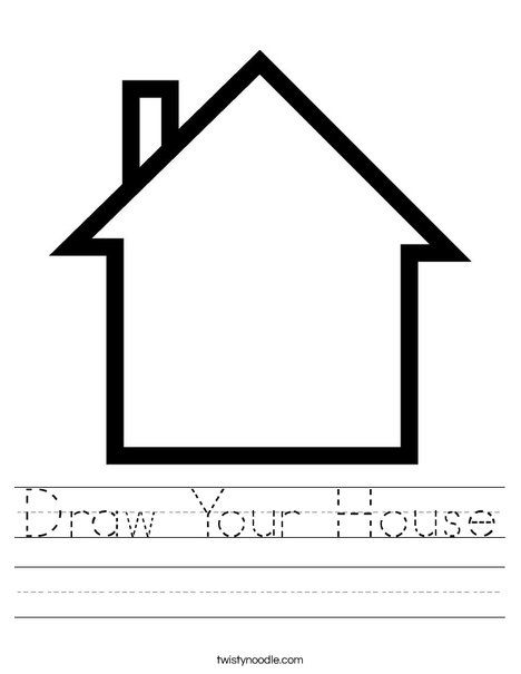 Draw Your House Worksheet - Twisty Noodle | Family ...
