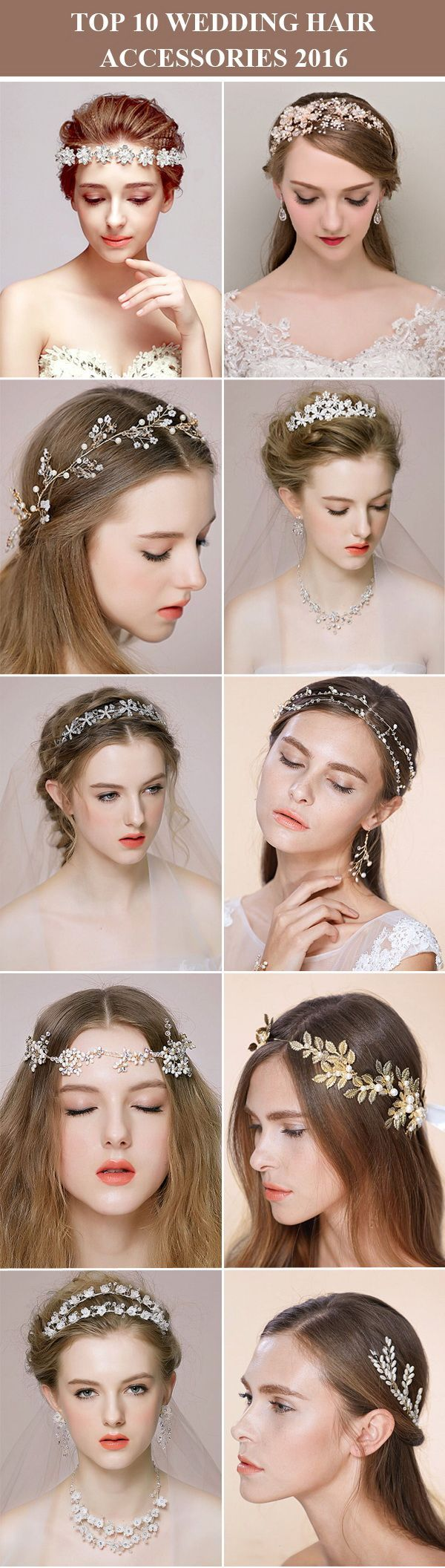 top 10 wedding hair accessories, wedding hairpieces and wedding headbands for 2016 from /tullechantilly/