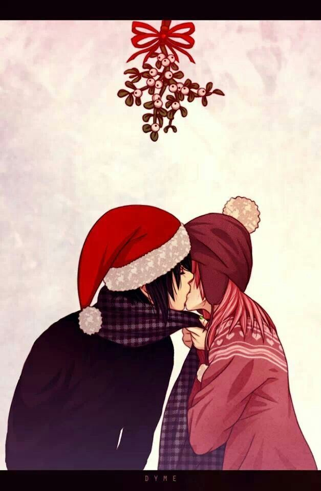 Christmas Anime- Cute Anime Couple