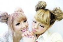 Pigtail Buns Hairstyle ~ http://www.haircutsforwomen.biz/beautiful-short-haircuts-for-dating/