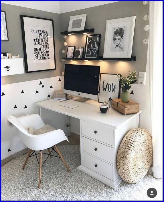22 Magnificent Ikea Small Office Ideas In 2020 Home Office Space Bedroom Office Combo Home Office Decor