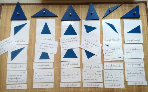 Nomenclatures les triangles – Montessori … mais pas que !