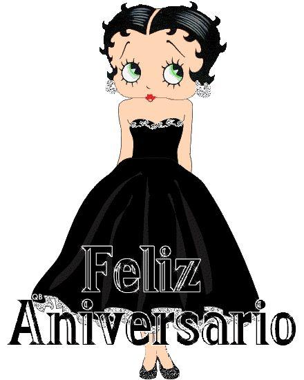 Animação Betty Boop Feliz Aniversário