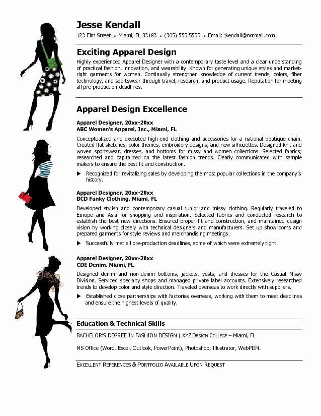 Fashion Designer Resume Sample Beautiful Fashion Designer Resume Templates Themysticwindow Fashion Stylist Jobs Fashion Designer Resume Fashion Resume