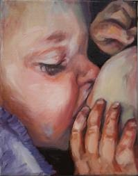Another lovely breastfeeding painting from Amanda Greavette's 'The Birth Project'