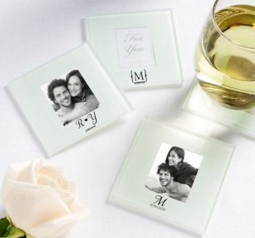 photo glass coasters gold wedding favors wedding favors by color weddings party city