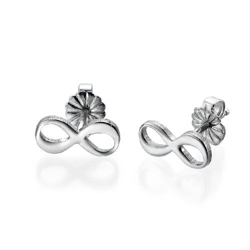 #Infinity Stud #Earrings with Initial
