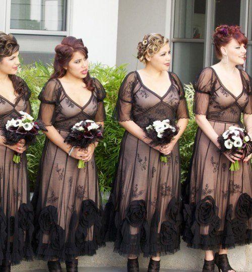 DIY Halloween Wedding decorations | ... dresses 17 Beautiful Halloween Bridesmaids' Dresses wedding ideas