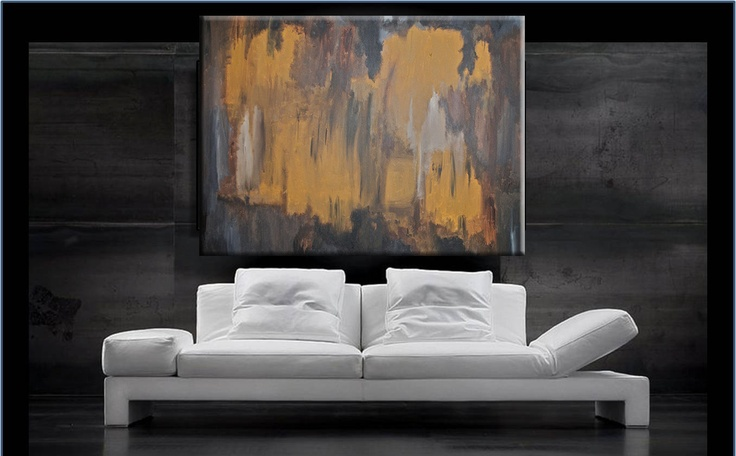 "Godiva - HUGE Original Modern Abstract Contemporary Art Painting - Size: 60 x 48"" Acrylic on Canvas by A.J. Wesolek. $10,000.00, via Etsy."