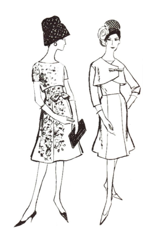 Line Art Fashion : Princess skirts on dresses and empire line cover up