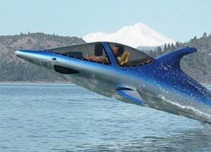 Dolphin Power Boat!  Tear up the seas like never before with this dolphin shaped power boat known as the Sea Breacher! This amazing dolphin boat is capable of submerging and launching at a high speed into the air like a real dolphin. Jetskis just became obsolete.