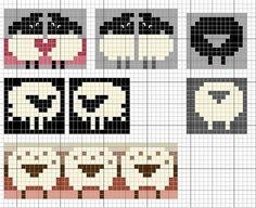 cross stitch sheep
