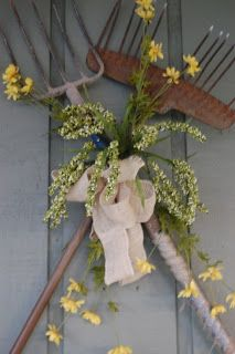 Old garden tools repurposed!