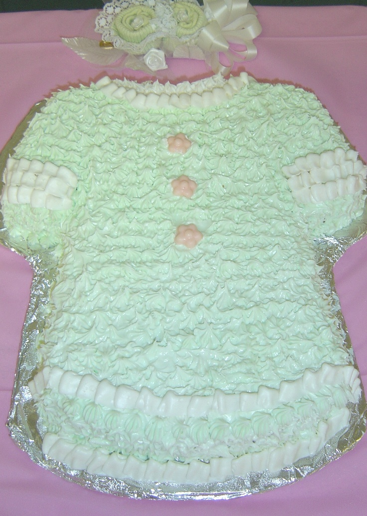 Mint Green Baby Dress Cake I made for Karis  Baby Shower ...