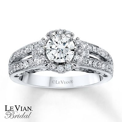 Amazing This elegant engagement ring features a round Vanilla diamond in the center surrounded by halo Kay JewelersHalo
