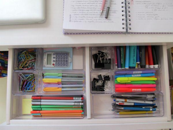 Arrumei o escritório - Via Vida Organizada - Gostei.