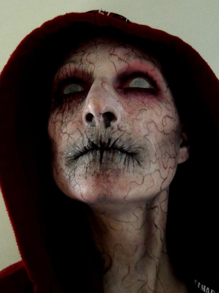 A few slight alterations and this would be great make up for Halloween as one of FX 's The Strain Vampire Monsters!