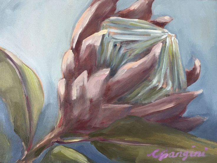 King of the Protea. CGanginiArt. Maui oil painting