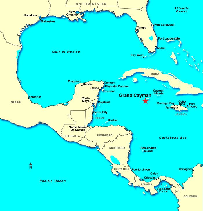 map of the Caribbean...Grand Cayman & Cozumel Cruise