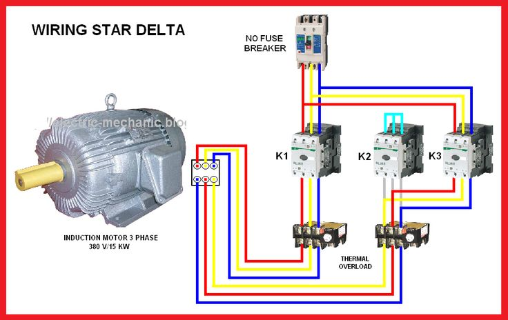 star delta motor connection diagram elec eng world in. Black Bedroom Furniture Sets. Home Design Ideas