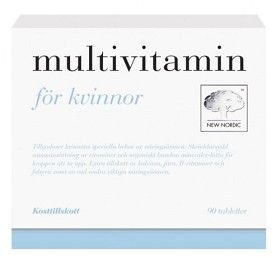 Köp Multivitamin för Kvinnor 90 st på vitaminvaruhuset.se