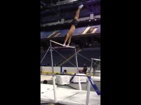 Paul Ruggeri doing an uneven bar routine. I knew he was my favorite for a reason.