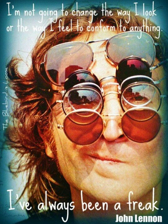 John Lennon quote What a fantastic freak!