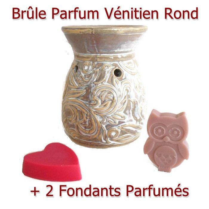 Brûle parfum et 2 Fondants de Cire Végétale Idée Cadeau : Luminaires par fondants-de-cire-parfumes-fleur-artifice