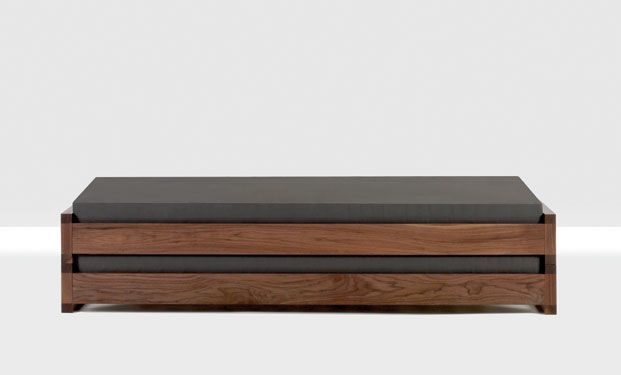 Guest Bed by Hertel Klarhoefer Industrial Design....could be used as bench in office then opened into bed form for guests. DIY this?
