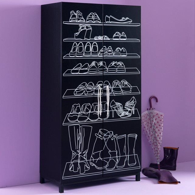 246 best Rangement images on Pinterest Furniture, Home ideas and - meuble a chaussures grande capacite