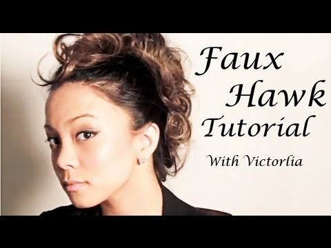 """Messy Faux Hawk - Chic Messy Faux Hawk Hairstyle Tutorial.      Victorlia Philalack  www.facebook.com/victorlia  Make-up/Hair Stylist/Model    Music Credit:  """"Roya (loop mix)"""" by Psykick  http://ccmixter.org/files/Psykick/37386  is licensed under a Creative Commons license:  http://creativecommons.org/licenses/by/3.0/  MORE INFO HERE:    DONT FORGET 'LIKE' T..."""