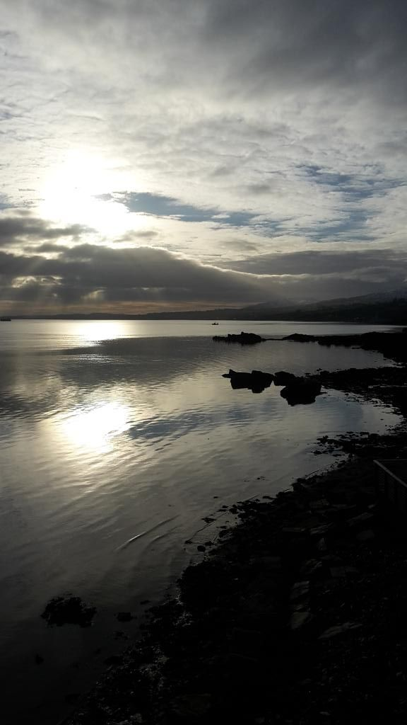 Our stunning view of Lough Foyle