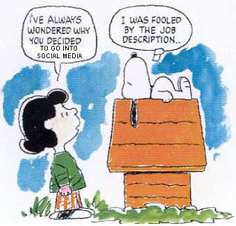 Snoopy's thoughts on Social Media! #Facebook #Twitter
