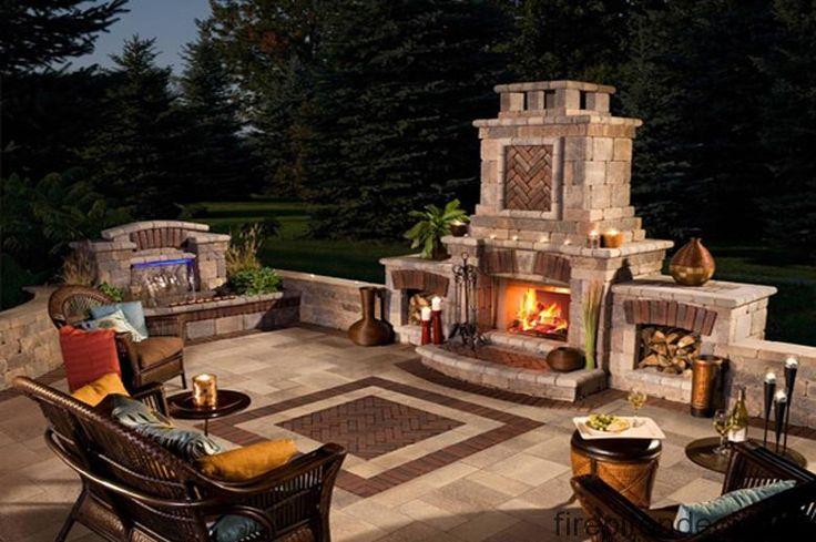 backyard gas fireplace - Google Search