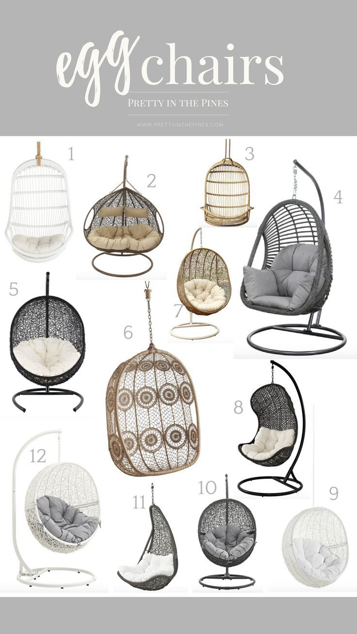 Best Egg Chairs On The Internet Pretty In The Pines New York City Lifestyle Blog Hanging Egg Chair Egg Chair Cute Room Decor