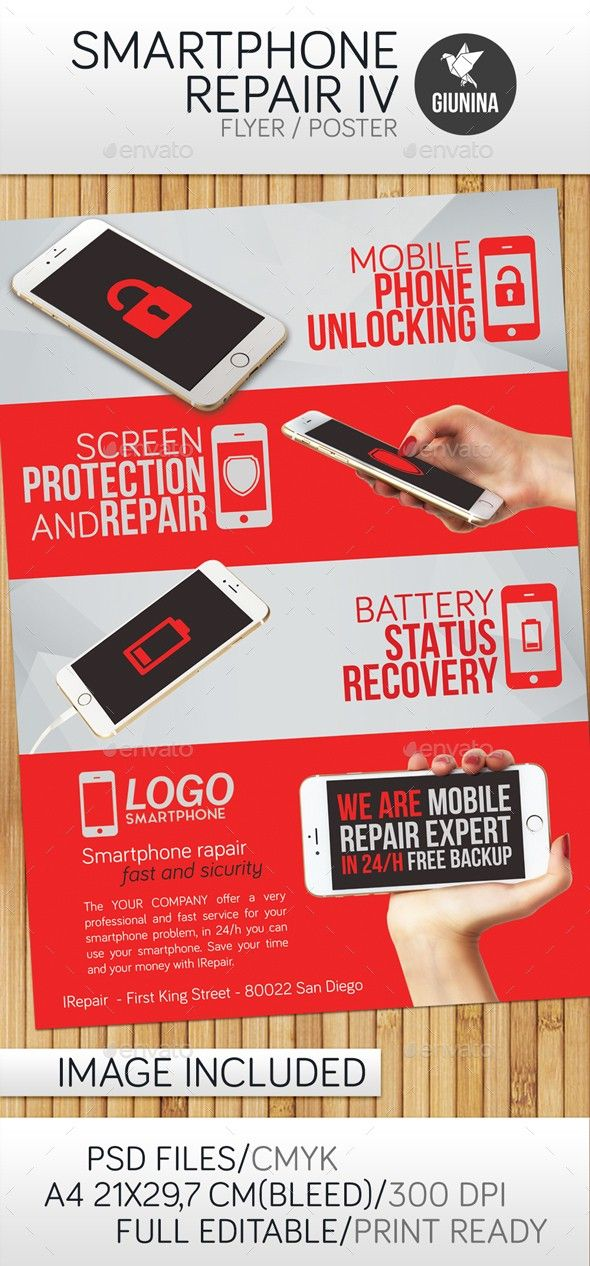 Battery Broken Cellular Damaged Display Electronics Fast Fix Flyer Mobile Pad Phone Phones Provides Quick Rep Smartphone Repair Smartphone Flyer