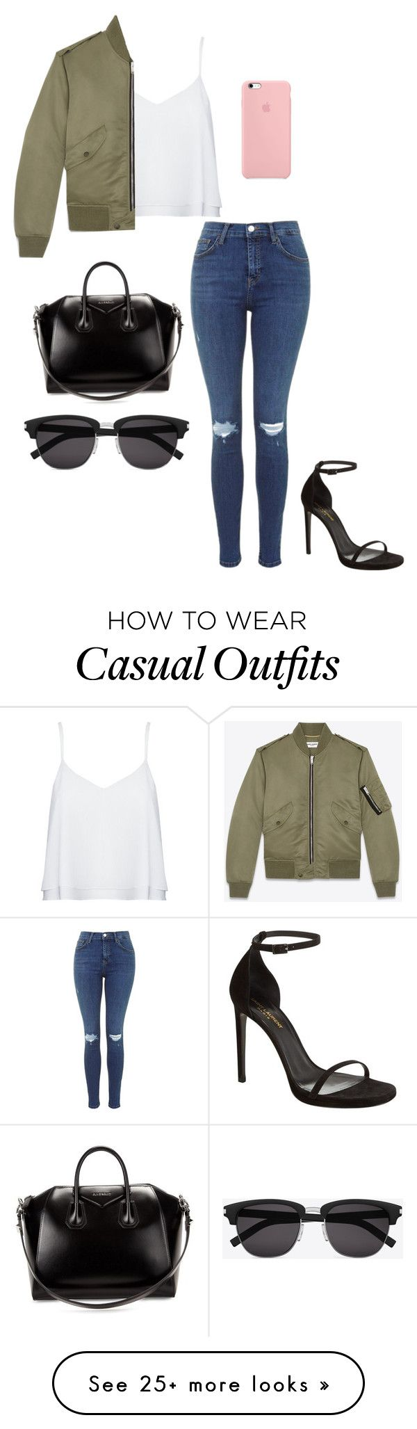 """Casual"" by real-gigi-love on Polyvore featuring Alice + Olivia, Yves Saint Laurent and Givenchy"