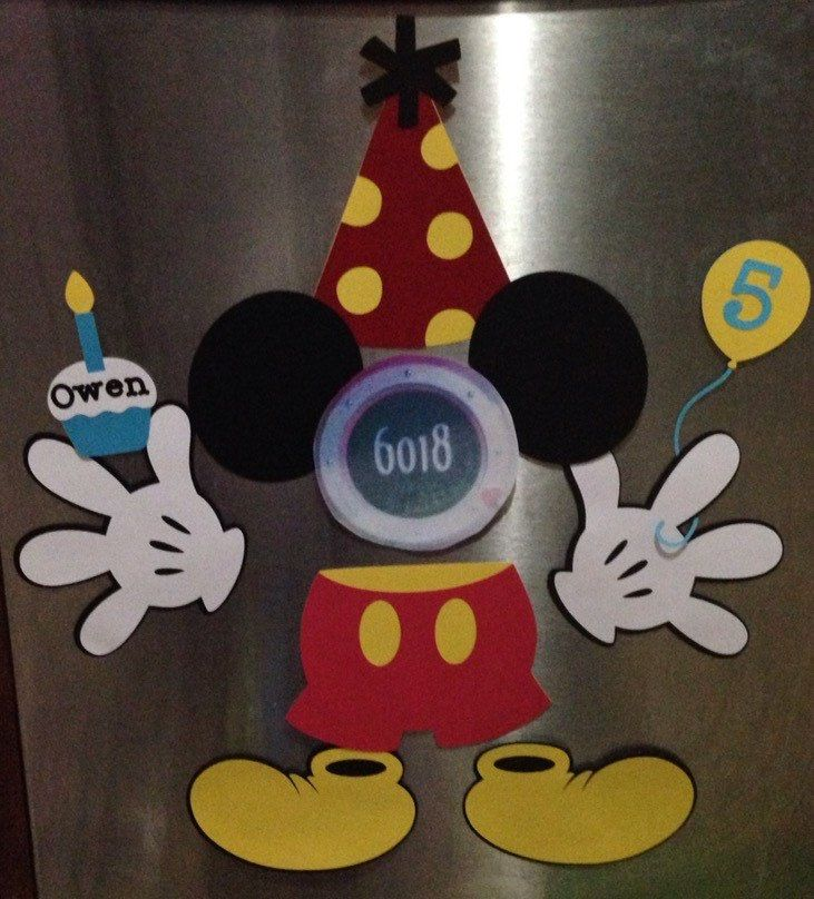 Personalized birthday Mickey Mouse Disney cruise stateroom door laminated magnet by heatherlilshop on Etsy