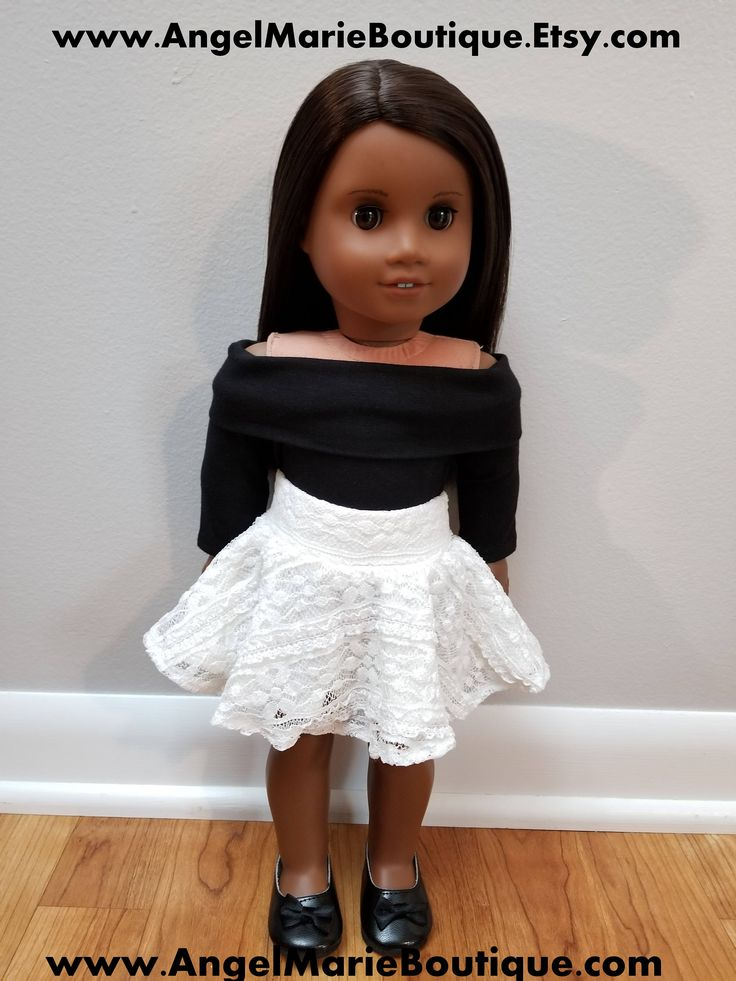 Lace Skater Skirt for 18 inch Dolls such as American Girl Dolls