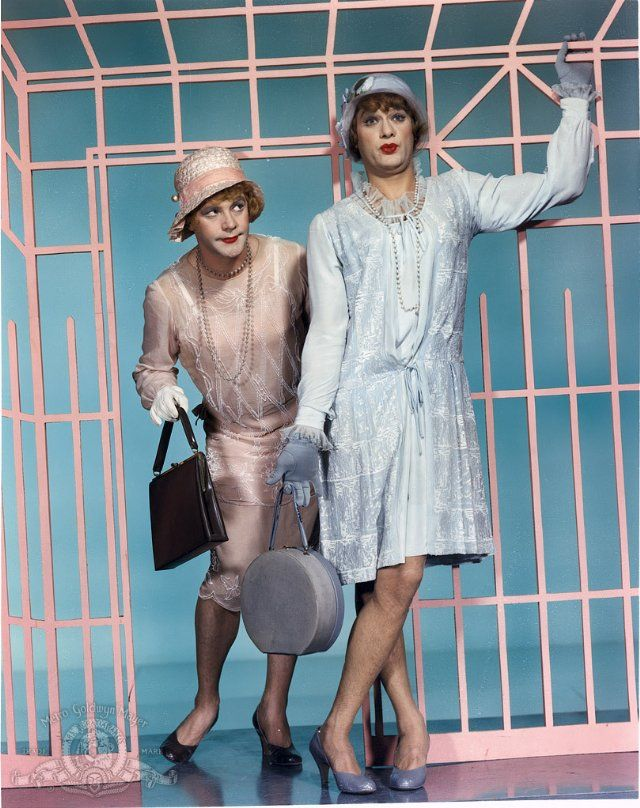 1950's Drag from the movie Some Like It Hot. Tony Curtis & Jack Lemmon
