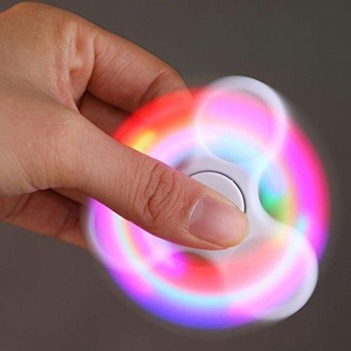 Fidget Spinner Toy Motop LED Light Fidget Hand Spinner Torqbar Finger Toy EDC Focus Gyro Fast Shipping White