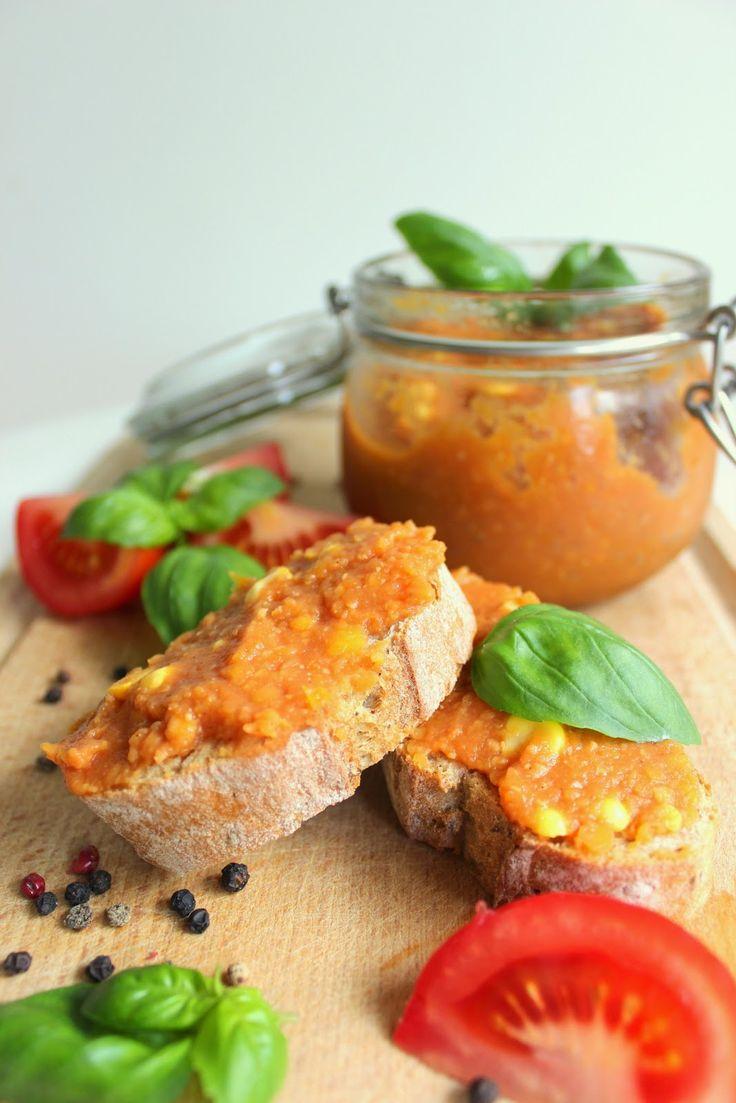 Veganer Brotaufstrich - Linsen, Paprika, Tomate