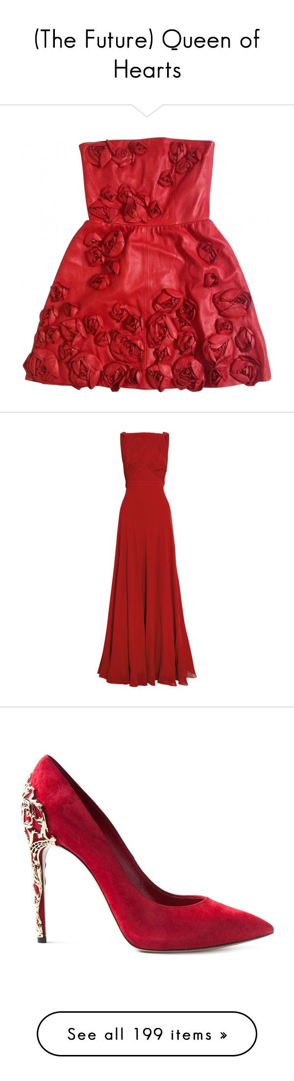 (The Future) Queen of Hearts by lonely-wallflower on Polyvore featuring polyvore, fashion, clothing, dresses, red dresses, red flower dress, flower dress, red dress, blossoms dresses, gowns, vestidos, long dresses, formal dresses, long formal evening dresses, long red dress, red evening dresses, formal gowns, shoes, pumps, heels, footwear, обувь, red, red leather shoes, red heel pumps, red shoes, heels & pumps, heels stilettos, beauty products, fragrance, fillers, makeup, perfume…